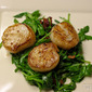 Friday (5/27): Simple Seared Scallops and Wilted Arugula Salad