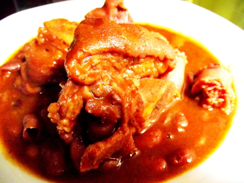 Pork feet and red beans
