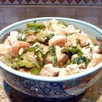 Shrimp and Tofu with Bok Choy