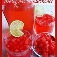 Rose & WaterMelon Quencher / Juice