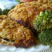 Oven Fried Corn Flake Chicken & Sweet ~ Garlic Broccoli