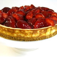 Fresh Strawberry Pie Topped Cheesecake…The Ultimate Skinny Dessert for Father's Day!