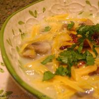 """Creamy Mushroom Soup ~ with a """"Kick""""!!"""