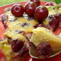 Clafoutis with sour cherries
