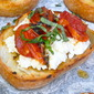 Roasted Tomato Bruschetta with Ricotta and Herbs: A Quick Summer Appetizer