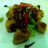 grilled fish with soy celery sauce