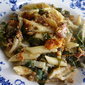 Chard and Cheese Pasta Gratin