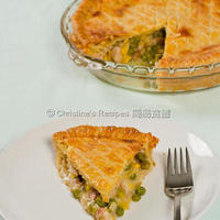 Chicken, Leek and Pea Pie (Maggie Beer's Sour Cream Pastry)