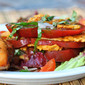 Heirloom Tomato Napoleons (Stack) with Parmesan Crisps