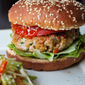 Friday: Curry Turkey Burgers with Thai Slaw