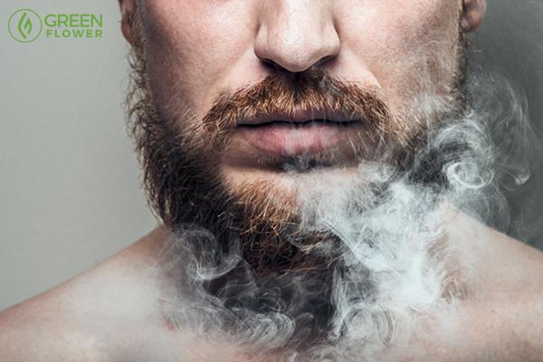 harmful smoke around face