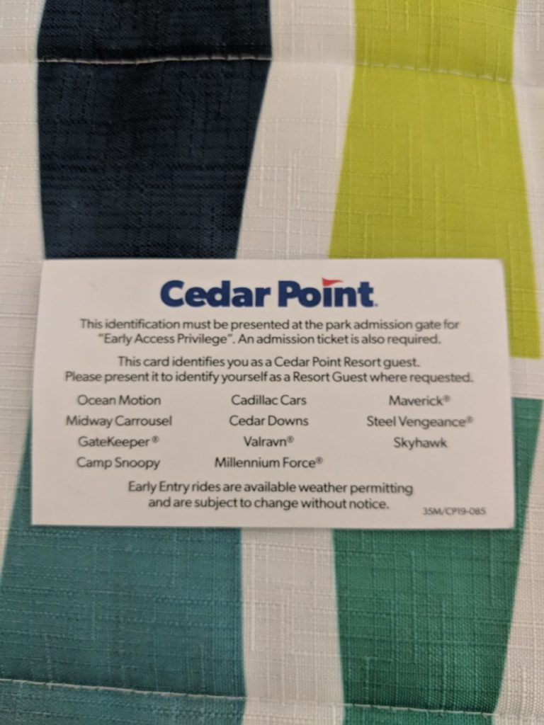 Staying at Cedar Point Express Hotel is the cheapest way to get into the theme park early