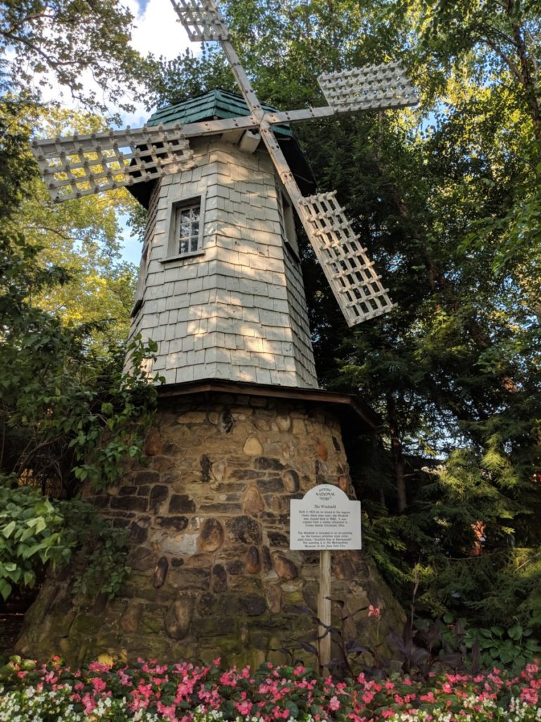 The Windmill historic structure in Kennywood amusement park in Pittsburgh Pennsylvania