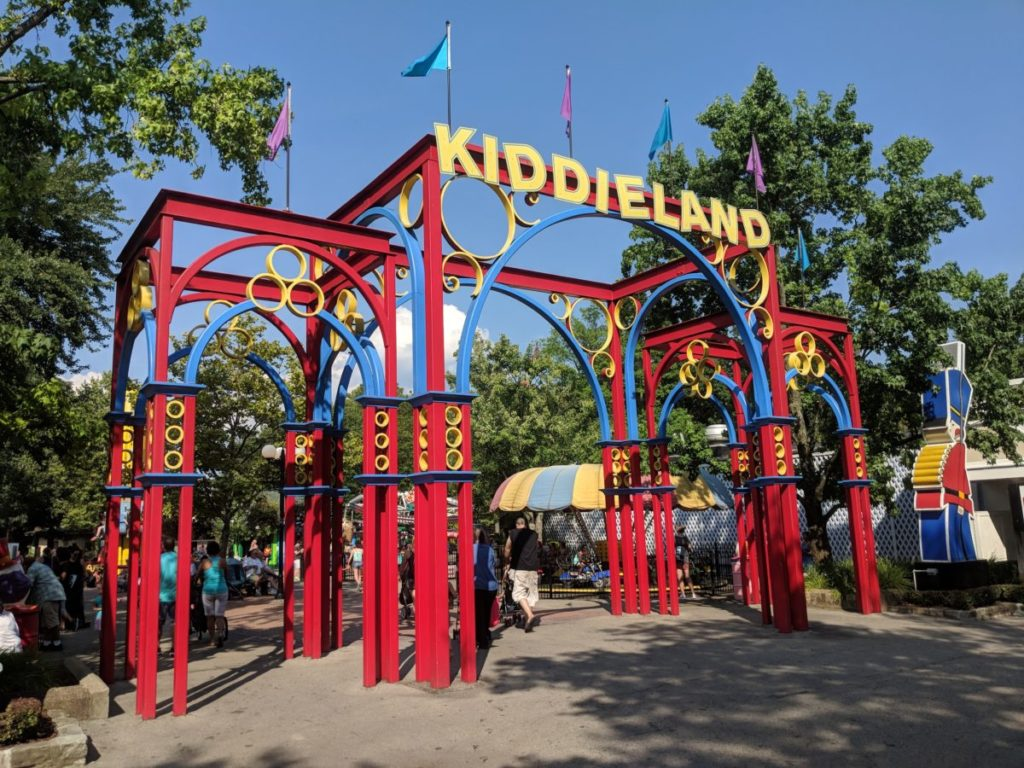 Kiddieland entrance at Kennywood theme park in Pittsburgh Pennsylvania