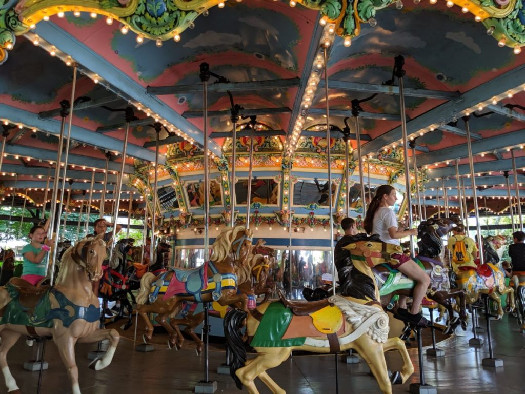 classic Merry-Go-Round ride in Kennywood theme park in Pittsburgh