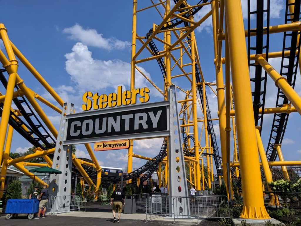 Steelers Country entrance at Kennywood Park in Pittsburgh Pennsylvania