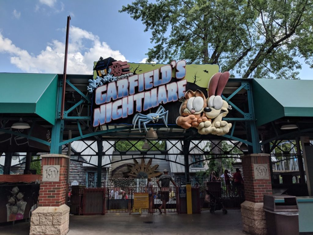 Garfield's Nightmare family fun ride at Kennywood theme park