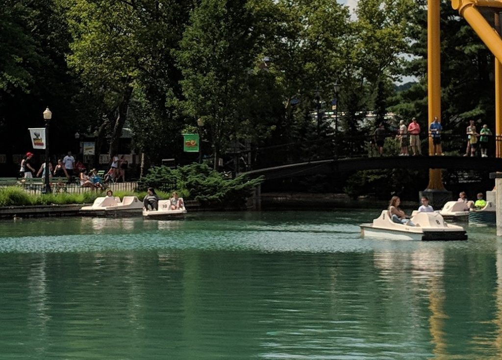 Paddle Boats on the Lagoon in Kennywood Park in Pittsburgh