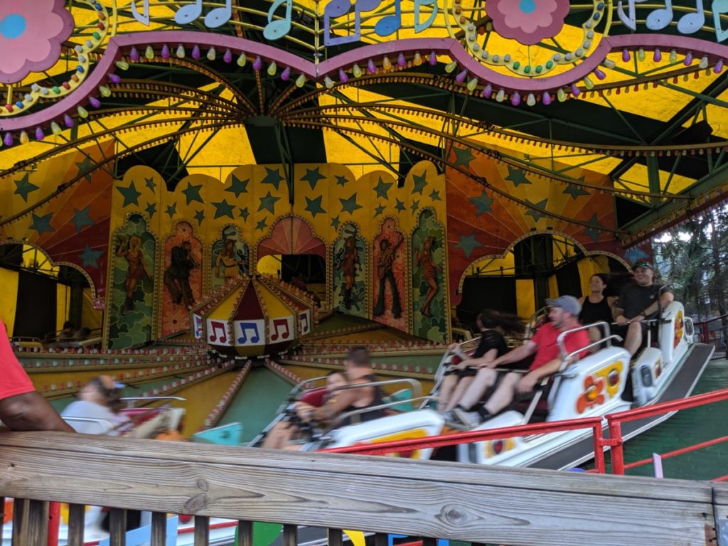 Musik Express amusement park ride at Kennywood in Pittsburgh PA