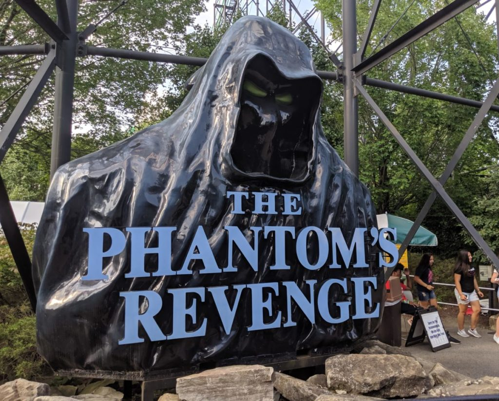 The Phantom's Revenge roller coaster at Kennywood Park in Pittsburgh