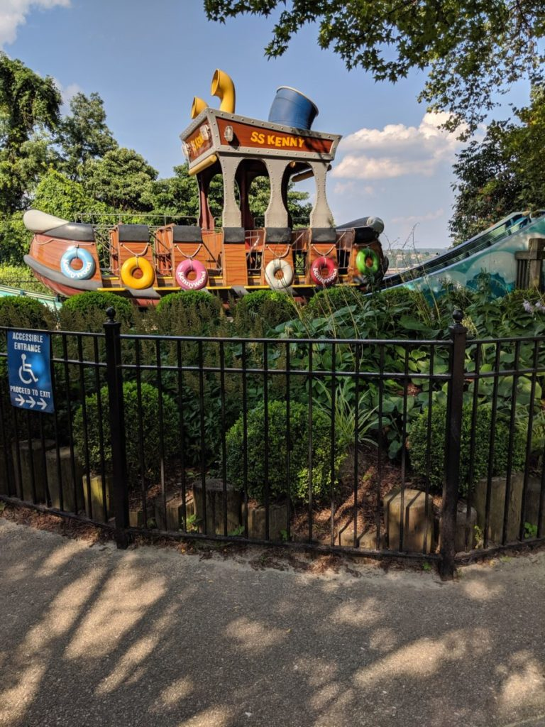 SS Kenny ride for children in Kiddieland at Kennywood amusement park in Pittsburgh