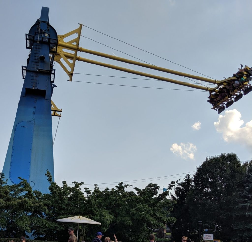 Swing Shot Ride at Kennywood Park in Pittsburgh Pennsylvania