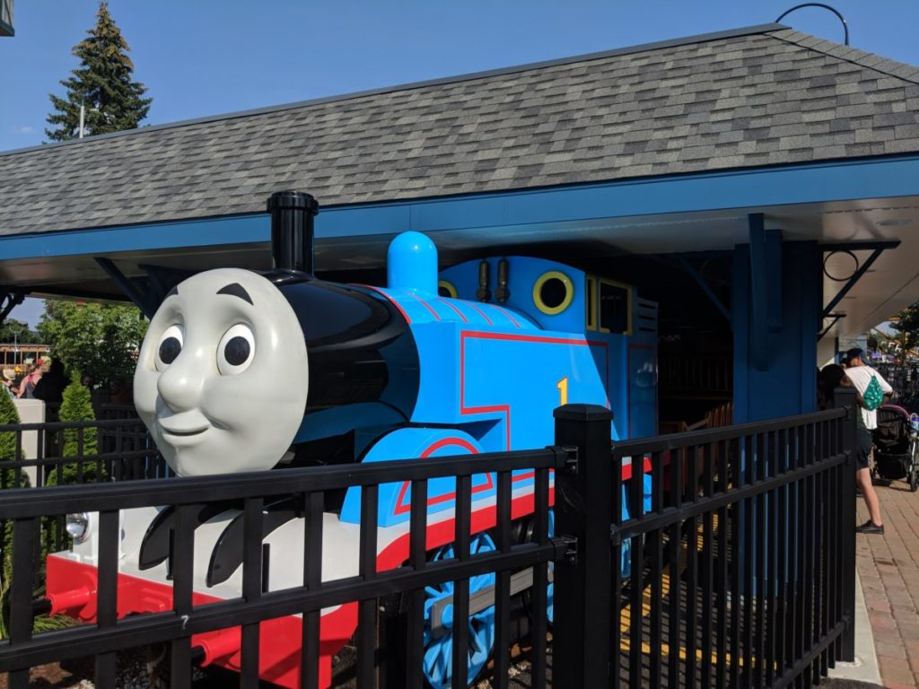 Thomas the Train ride at Kennywood amusement park in Pittsburgh