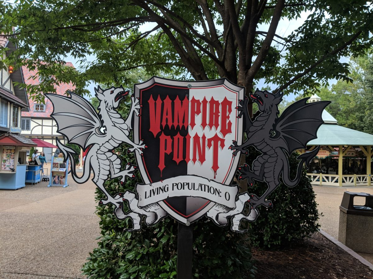 Vampire Point is one of the scare zones at Howl o Scream in Busch Gardens Williamsburg