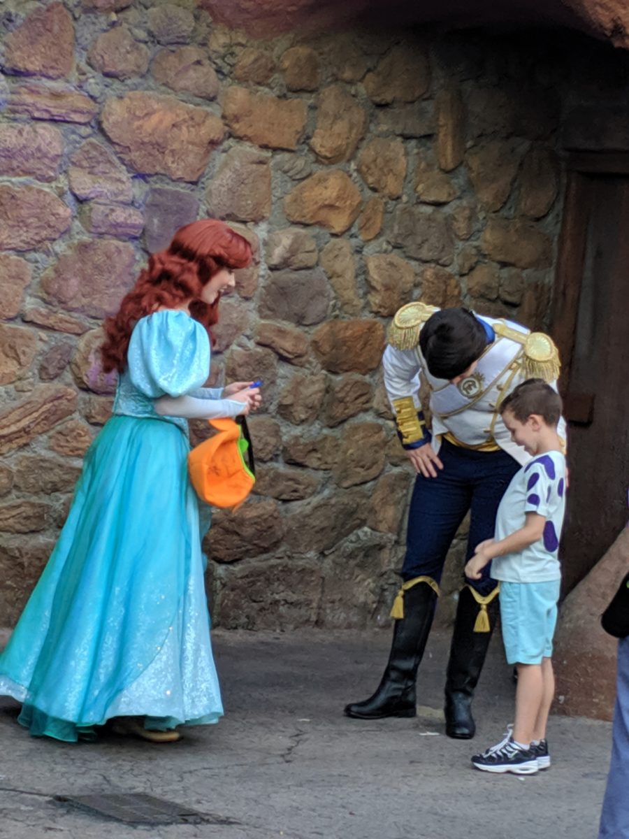 Mickey's Halloween Party in Disney World allows guests to have meet & greets with rare characters like Prince Eric