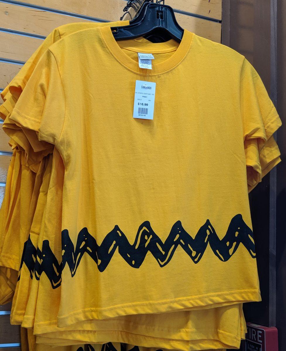 Cartoon Charlie brown Yellow Black Zig Zag Toddler Boys Shirt Halloween Costume