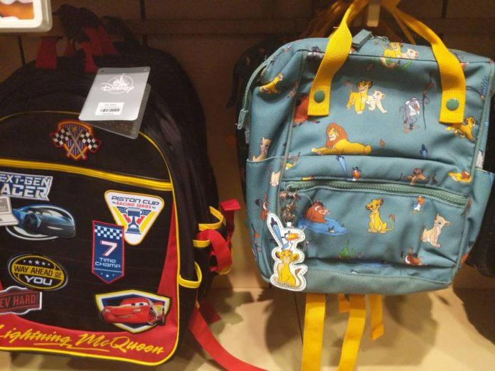 Disney (Cars, Toy Story, Lion KIng, Frozen, etc.) backpacks for back to school