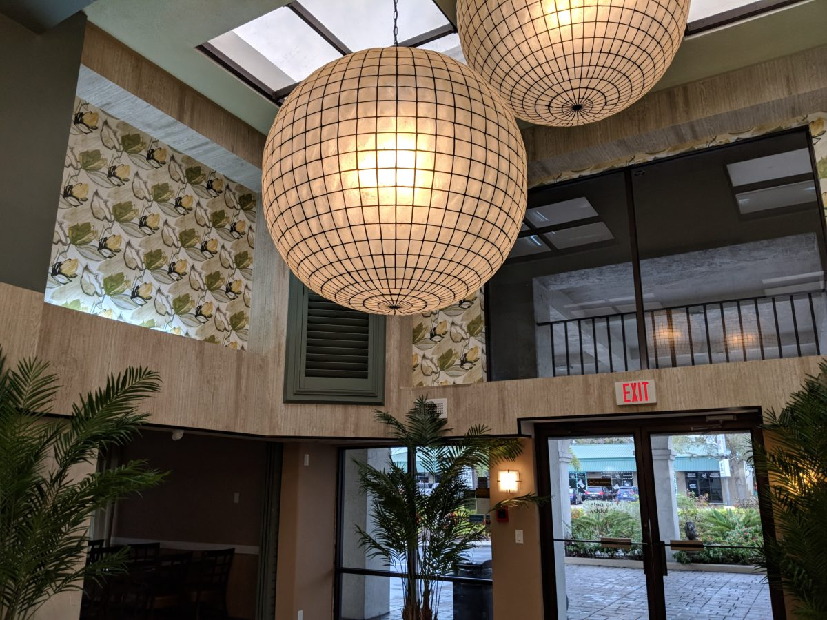Beautiful decor of the Ponce St. Augustine hotel in Florida's First Coast