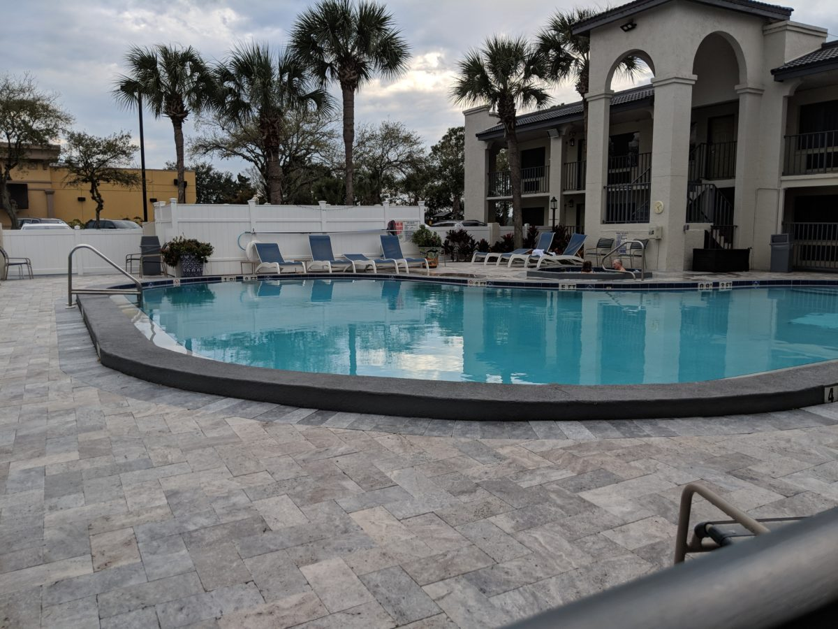 Relax at the pool or hot tub at The Ponce St. Augustine Hotel in Central Florida