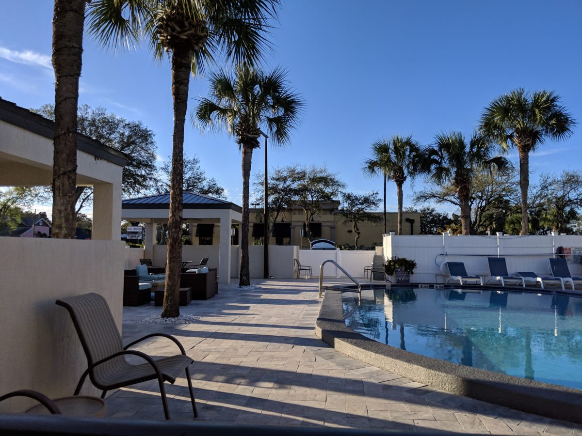 Jacksonville area hotel Ponce St. Augustine has an outdoor pool