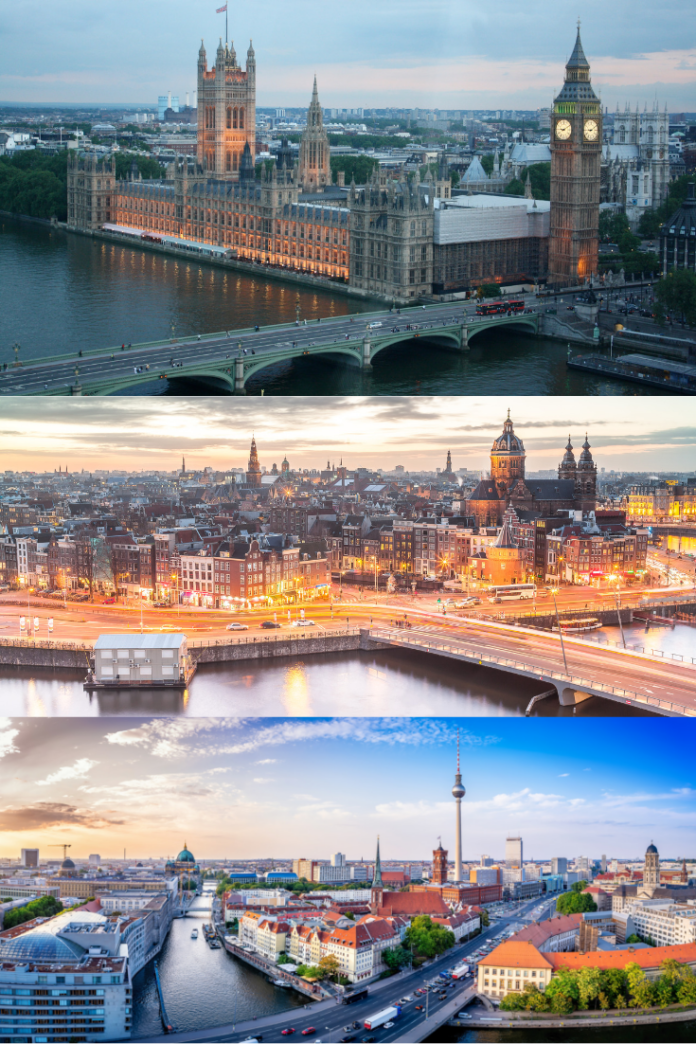 Enter KLM Airlines - Win A European City Trip Sweepstakes for a free trip to England, Germany or the Netherlands