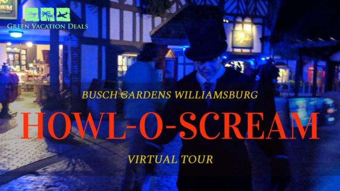 A virtual tour of a Passholder Preview of Busch Gardens Virginia's Howl-o-Scream Event