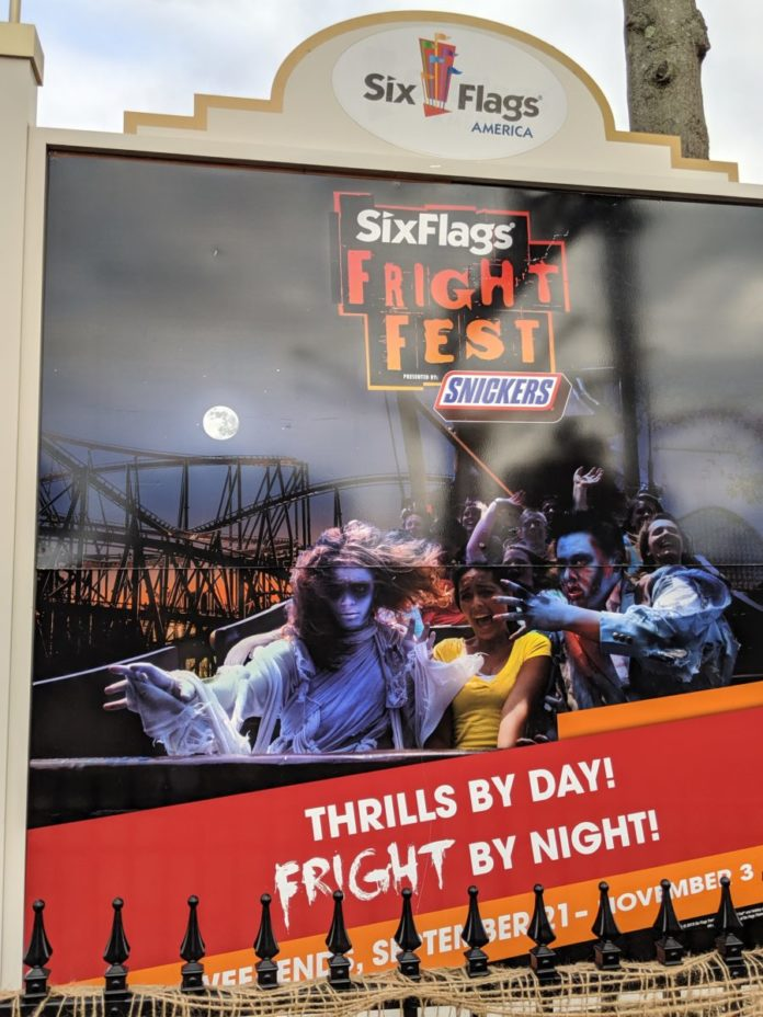 Coupons to save you over $30 per ticket at Fright Fest Halloween event at Six Flags America in DC