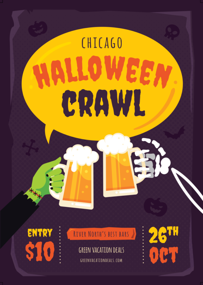 $10 tickets to the best Halloween bar crawl in Chicago, Illinois