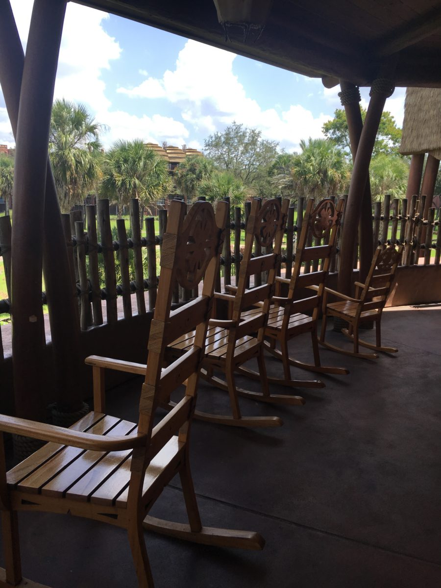 A picture of the animal viewing area at Disney's Animal Kingdom Lodge hotel in Orlando, Florida