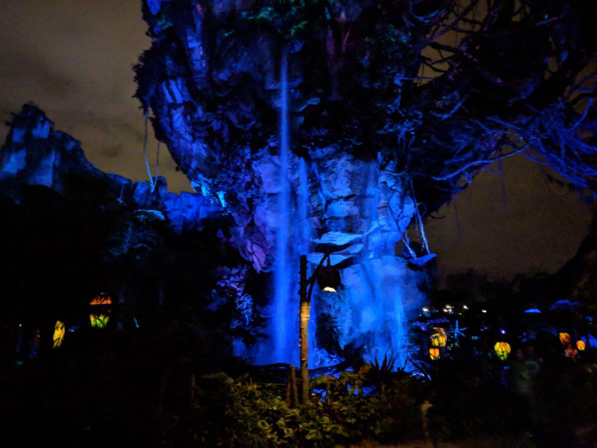 Pandora: World of Avatar is beautiful at night at Animal Kingdom in Disney World