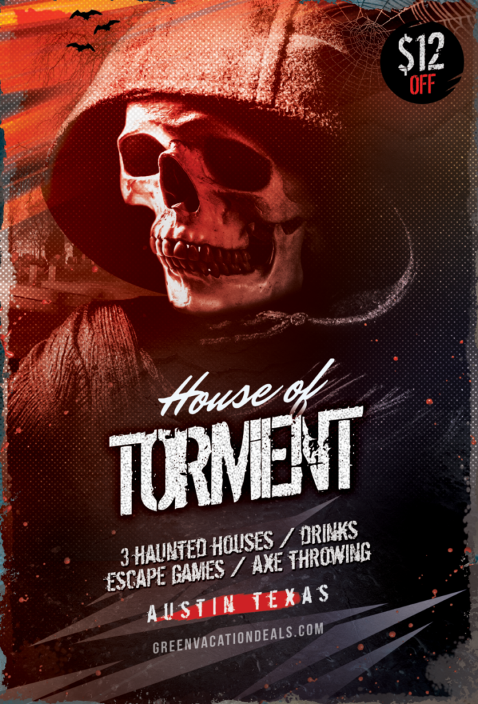Discount tickets to House of Tormet Halloween attraction in Austin, Texas