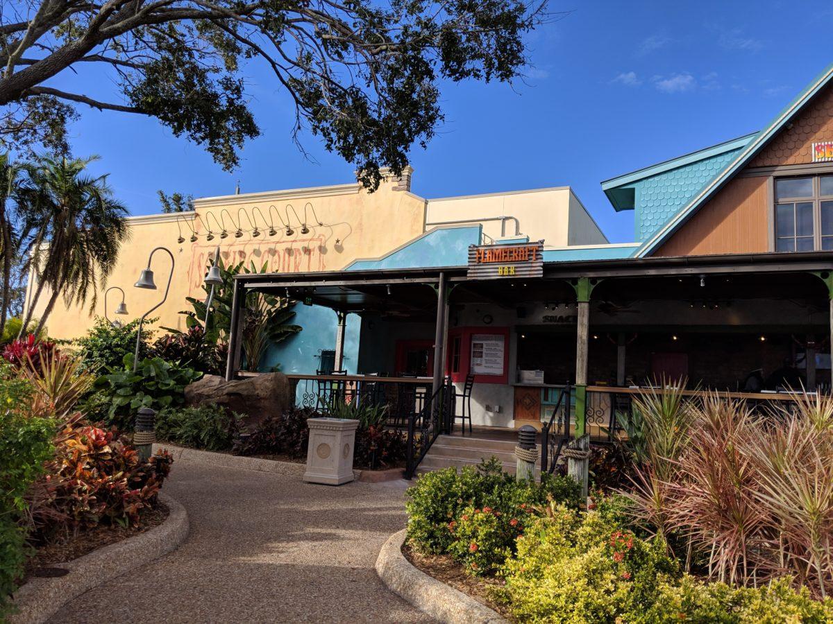 Flamecraft Bar serving craft beer is next door to Seafire Grill at SeaWorld Orlando