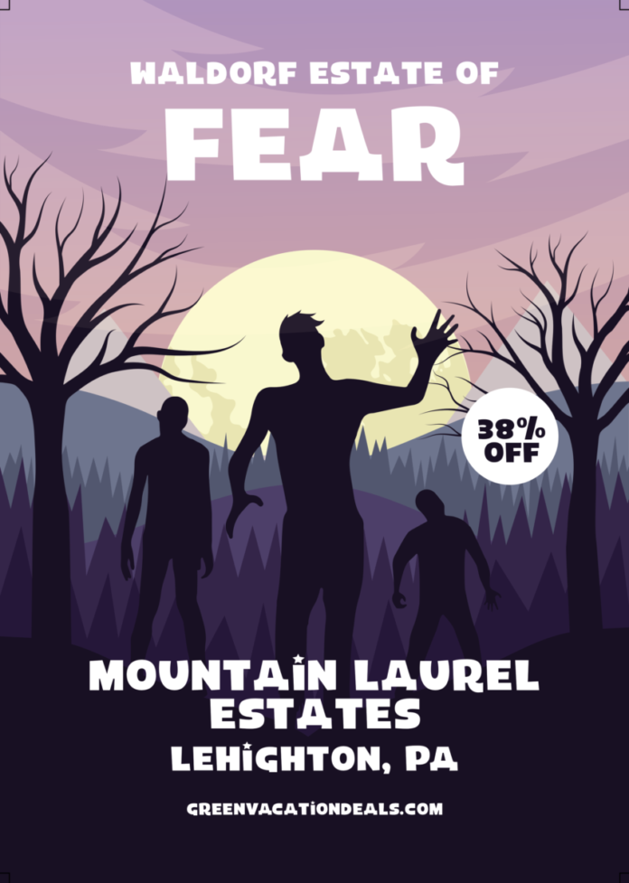 Discount ticket to Waldorf Estate of fear haunted house, hayride & escape rooms in Leighton, PA