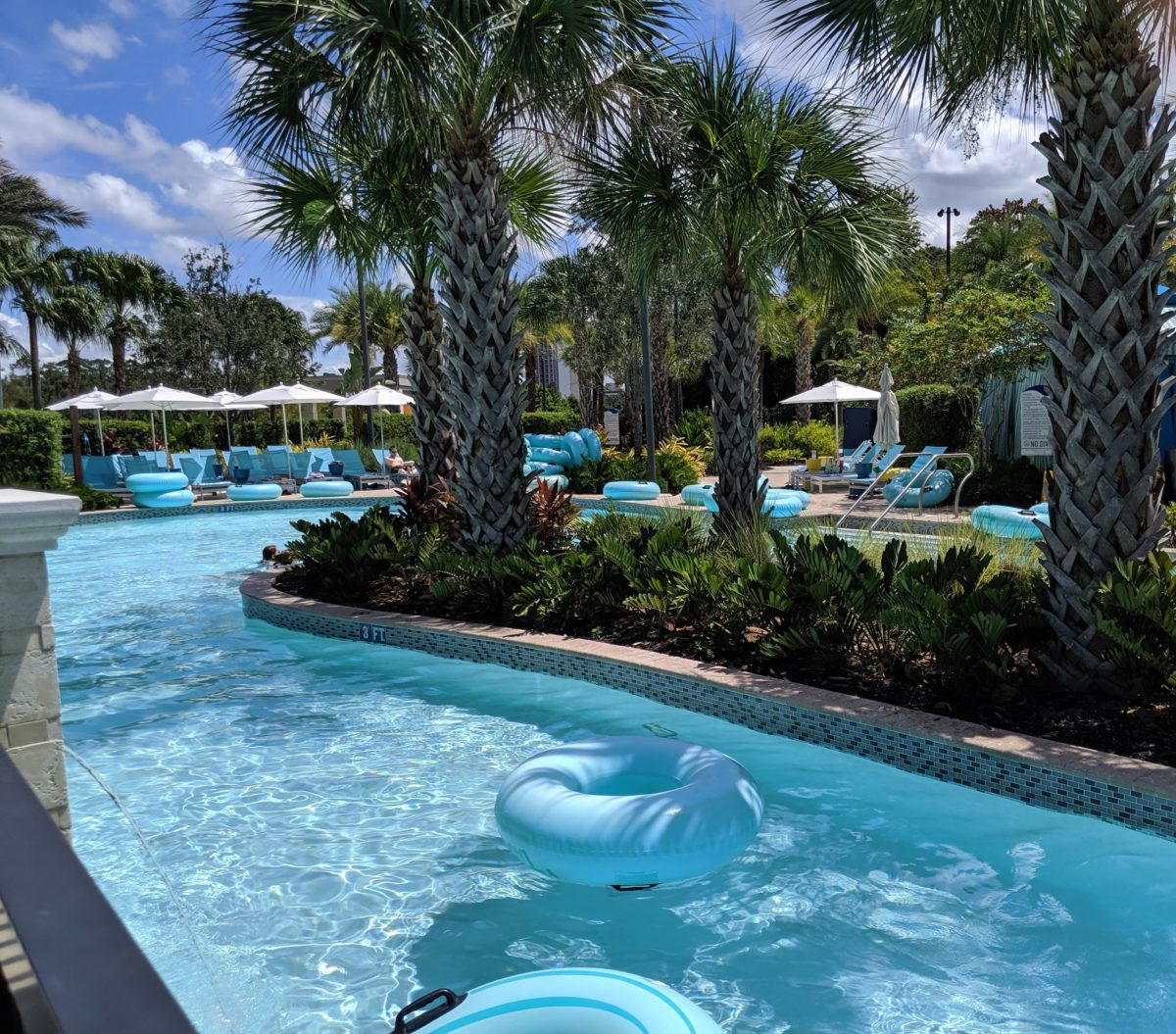 A picture of the lazy river at Hilton Orlando Buena Vista Palace Disney Springs hotel