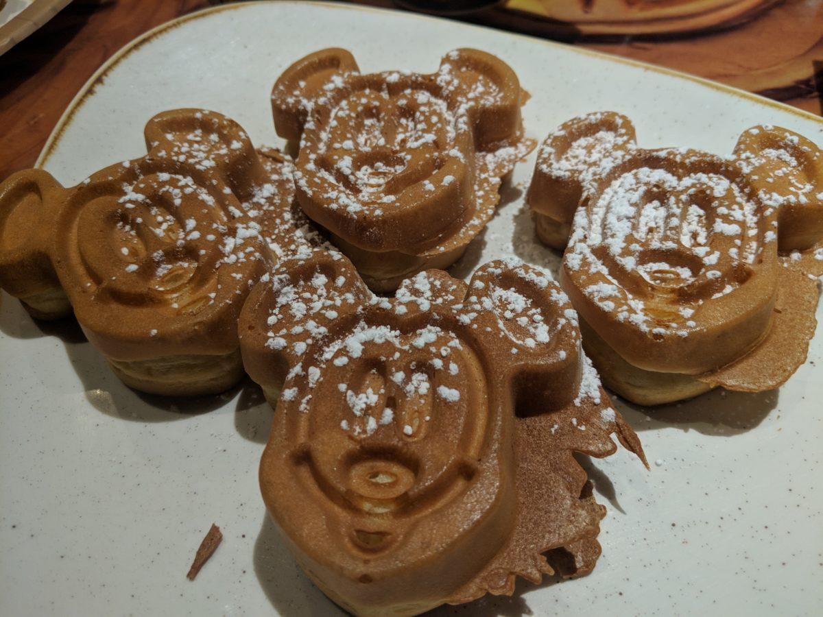 Disney's Kidani Village has Mickey waffles available at Sanaa at breakfast