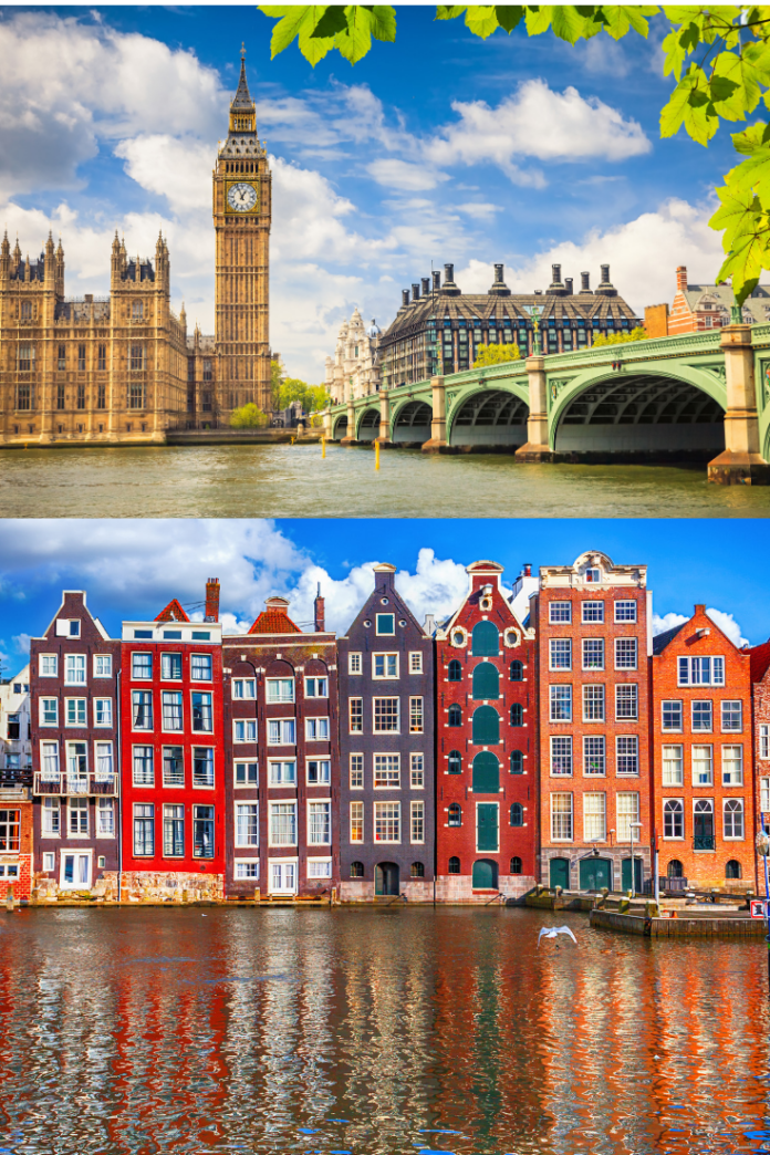 Enter KLM Airlines - 100 Years of KLM Sweepstakes for a free trip to London or Amsterdam