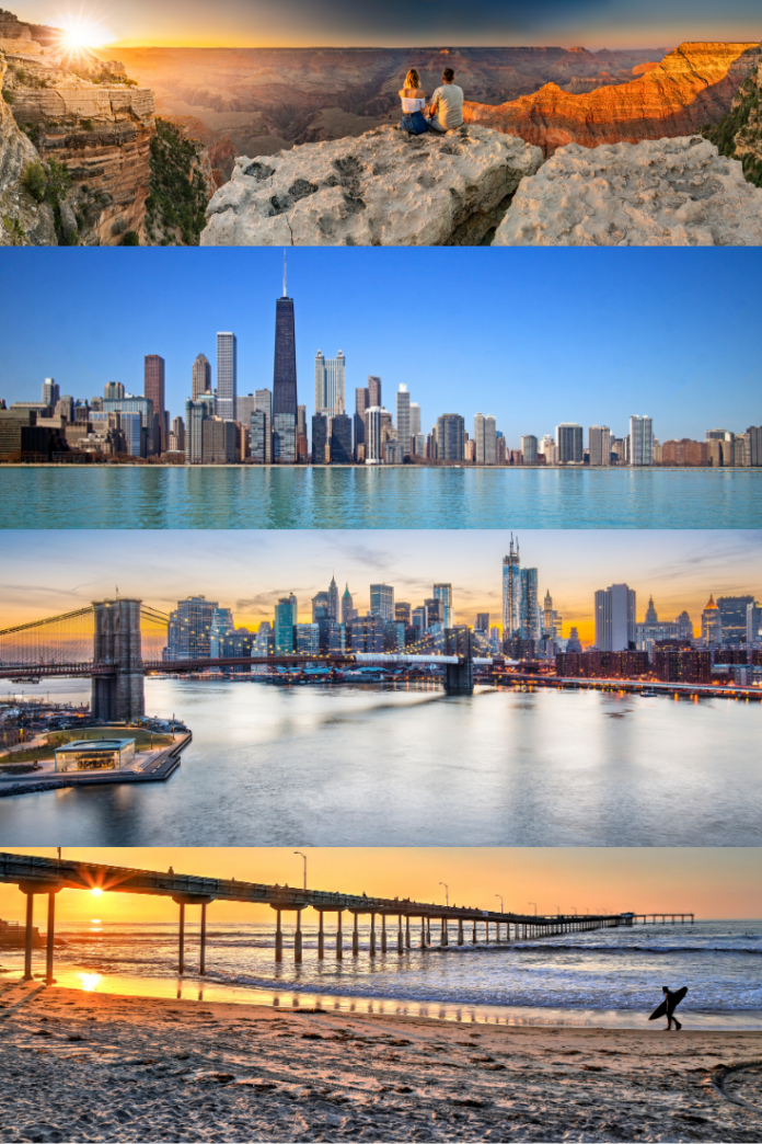 Win a free trip to New York City, San Diego, Chicago or Grand Canyon