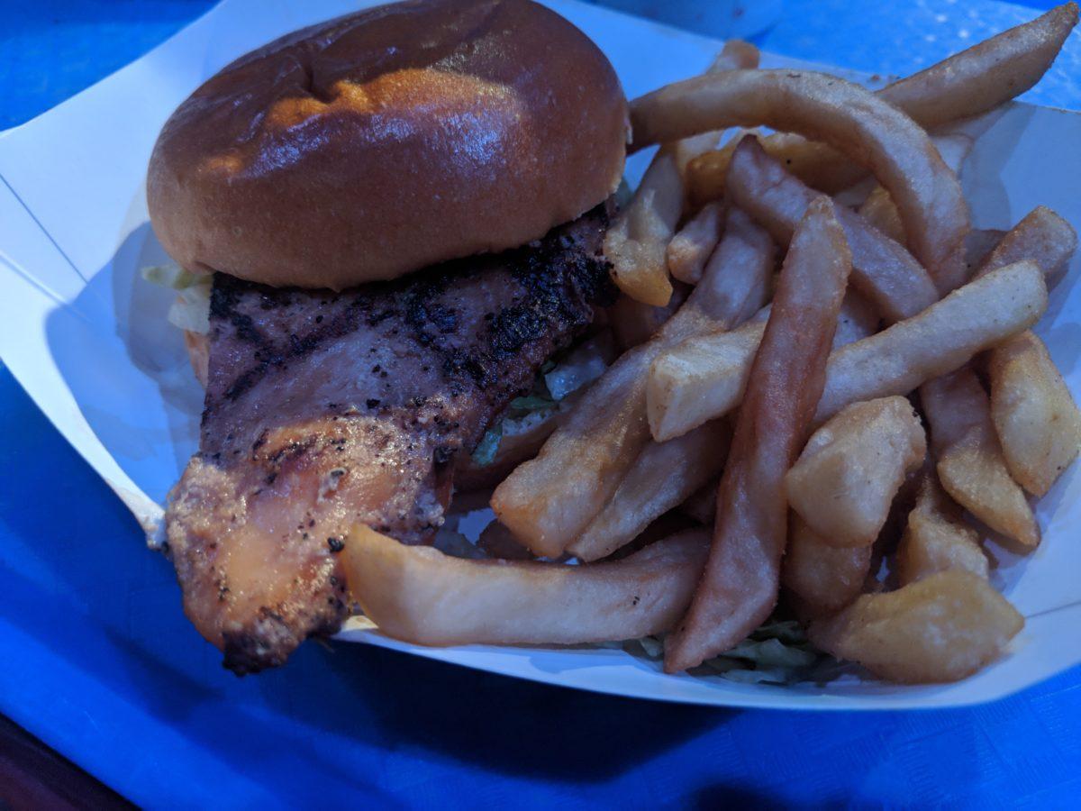Seafire Grill at SeaWorld Orlando sells delicious chicken sandwiches.