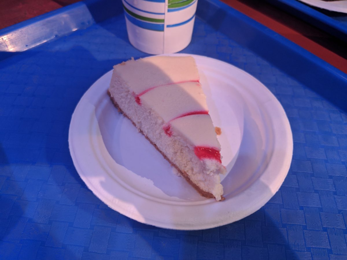 A piece of cheesecake is one of the desserts you can eat as part of SeaWorld Orlando's all day dining plan
