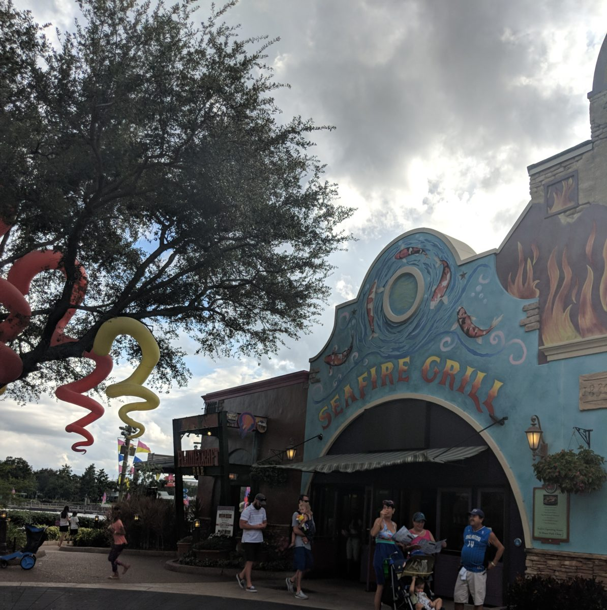Seafire Grill at SeaWorld Orlando is a quick service restaurant that's part of the the all day dining plan